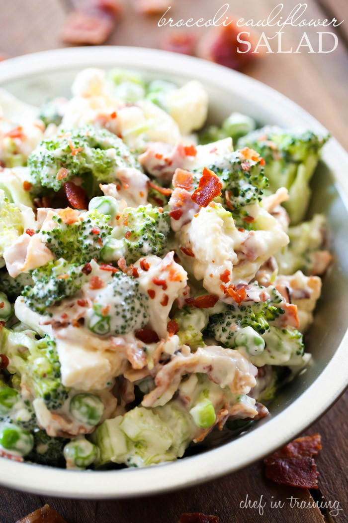 Cauliflower Salad Recipes  Broccoli Cauliflower Salad Chef in Training