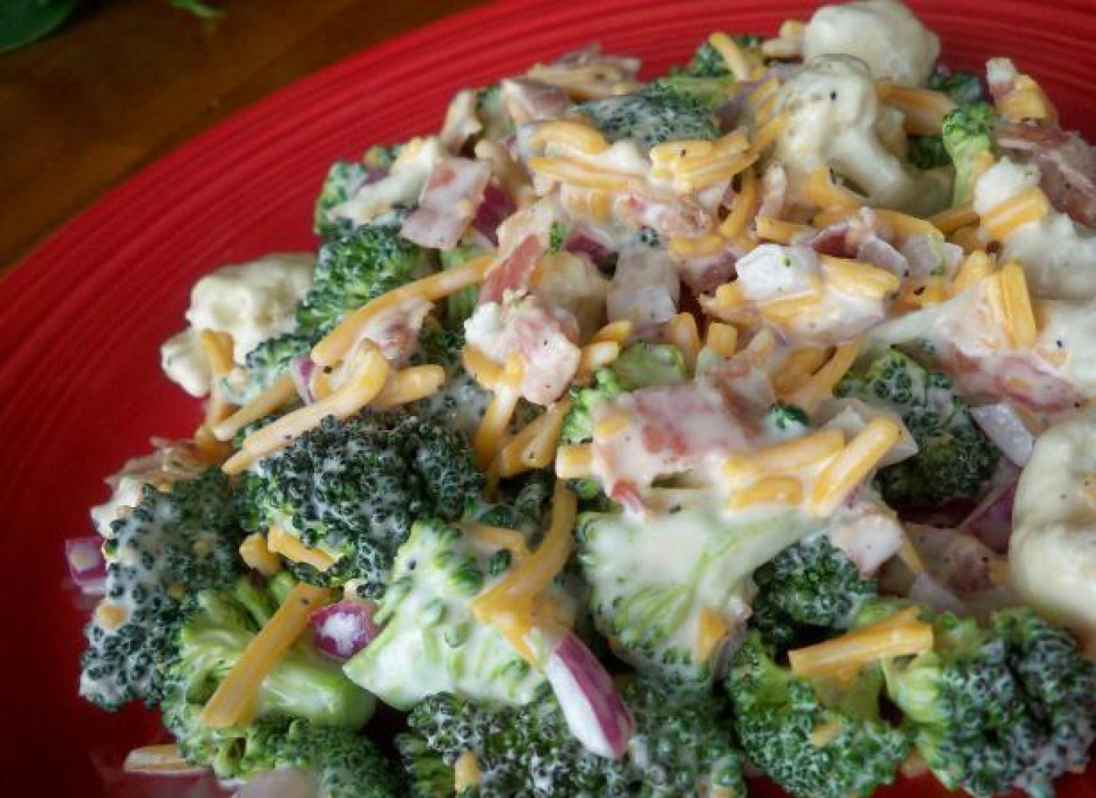 Cauliflower Salad Recipes  Broccoli and Cauliflower Salad Recipe 2