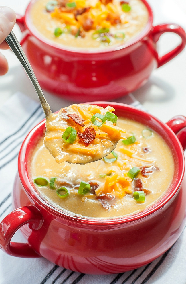 Cauliflower Soup Recipes  Slow Cooker Sweet Potato and Cauliflower Soup