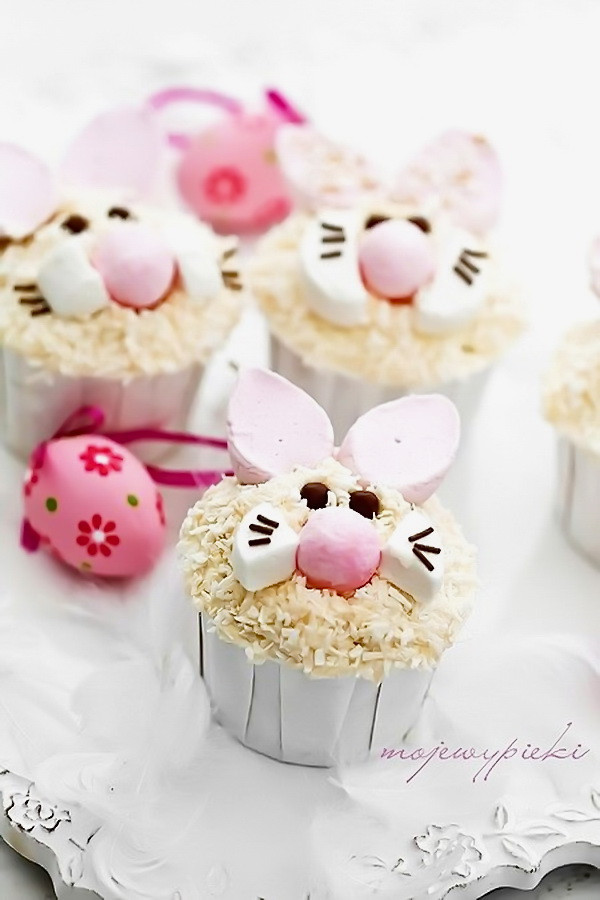 Cheap And Easy Desserts  Easter Bunny Cupcake – Best Simple Healthy Dessert For