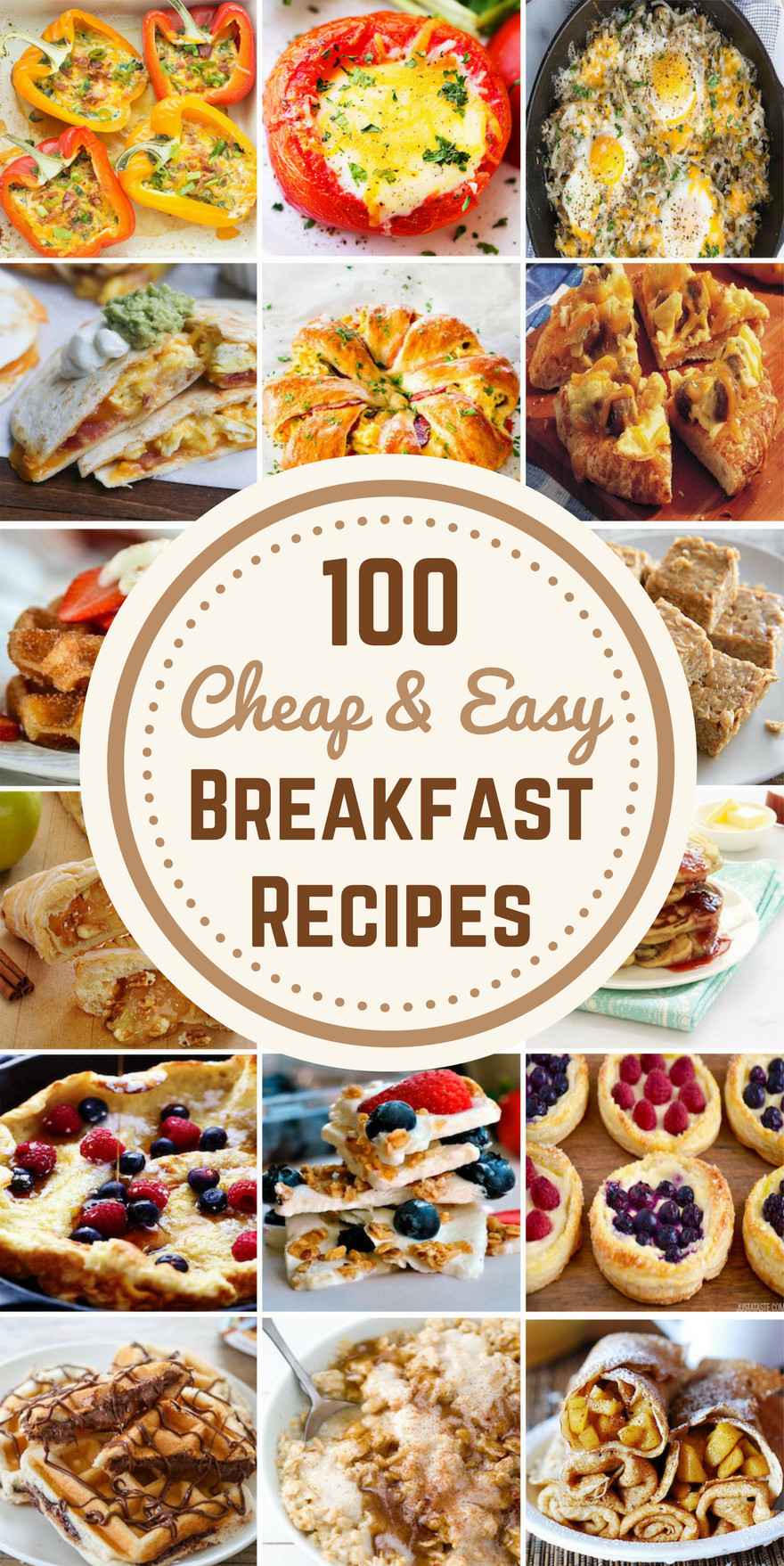 Cheap Breakfast Recipes  100 Cheap & Easy Breakfast Recipes Prudent Penny Pincher