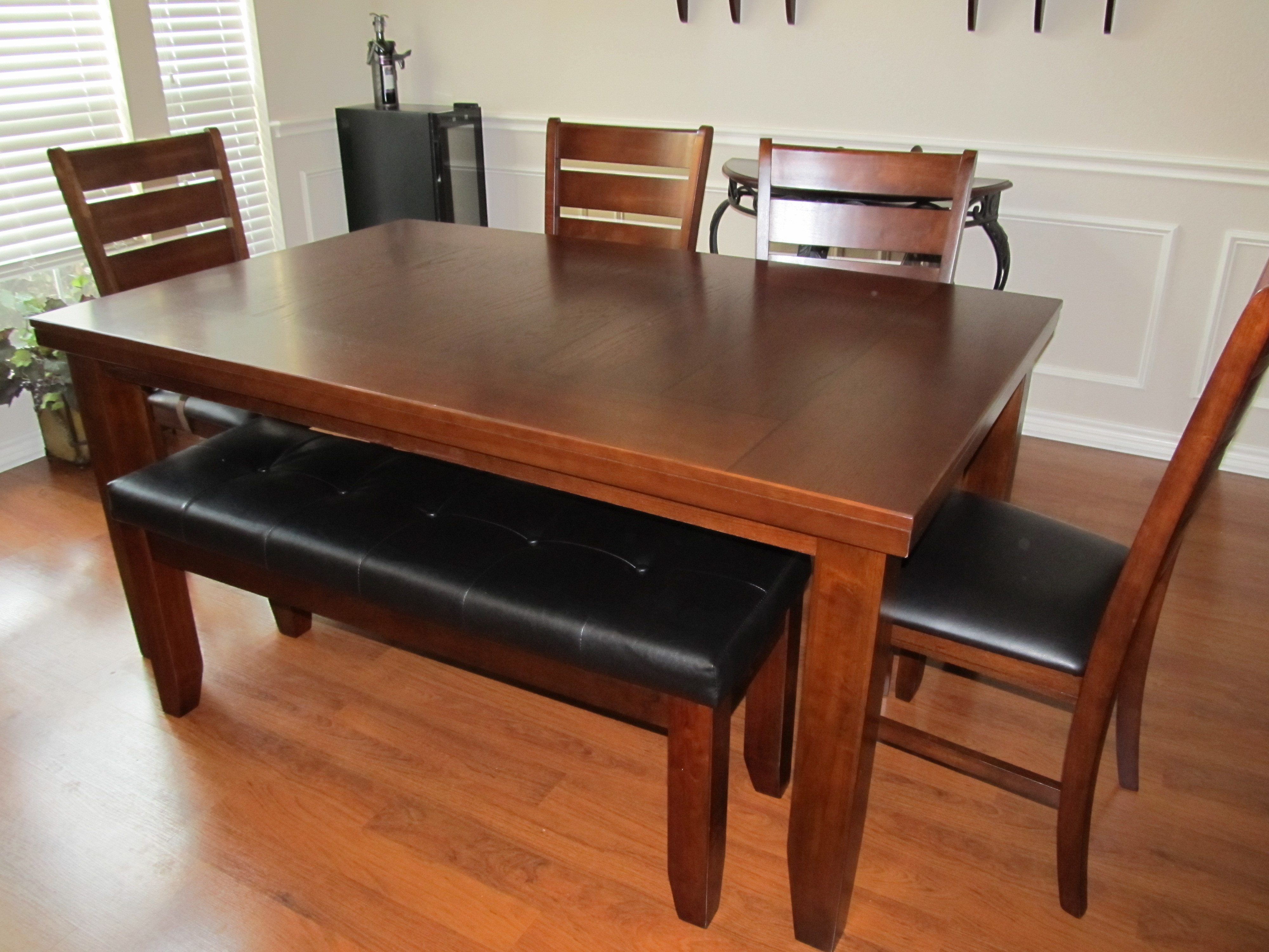 Cheap Dinner Tables  46 Dining Room Table Sets With Bench Bench Style Dining
