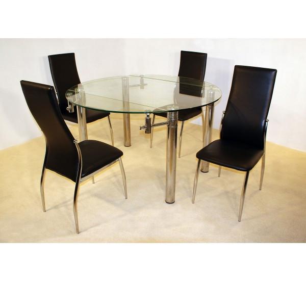 Cheap Dinner Tables  Cheap Heartlands Munich Extending Glass Dining table Set