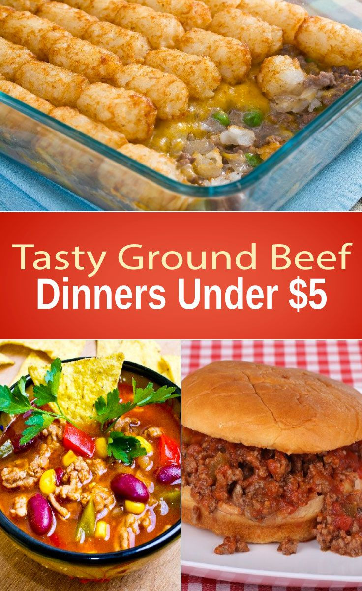 Cheap Ground Beef Recipes  Tasty Ground Beef Dinners Under $5