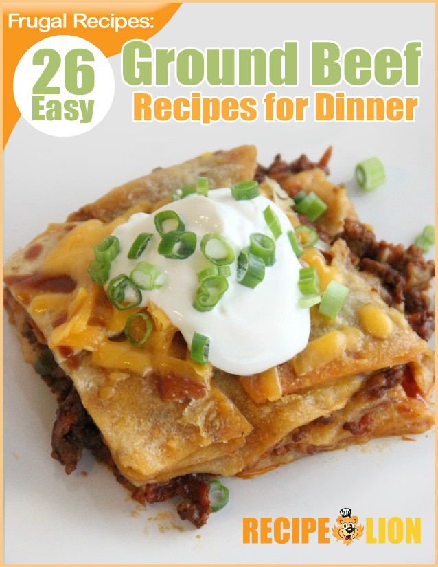 """Cheap Ground Beef Recipes  """"Frugal Recipes 26 Easy Ground Beef Recipes for Dinner"""