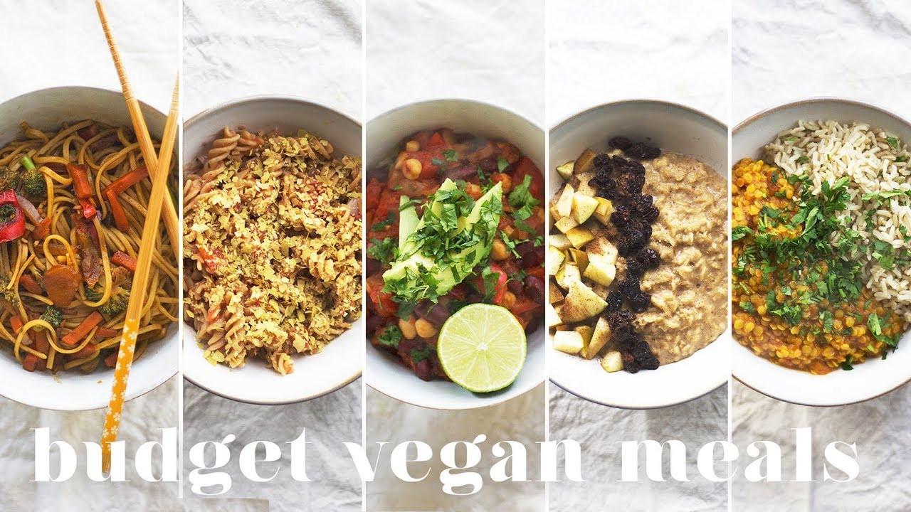 Cheap Vegan Recipes  5 VEGAN MEALS UNDER £1 $1 50