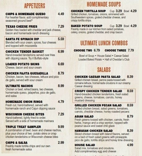 Cheddars Dessert Menu  Cheddars Menu Prices