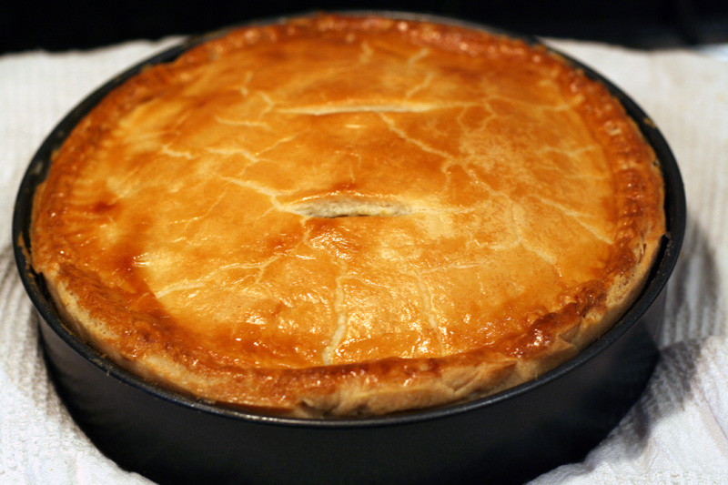 Cheese And Onion Pie  Cooking The Books Cheese and ion Pie