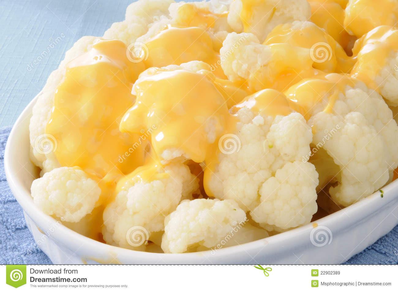 Cheese Sauce For Cauliflower  Cauliflower And Cheese Sauce Stock Image Image of dish