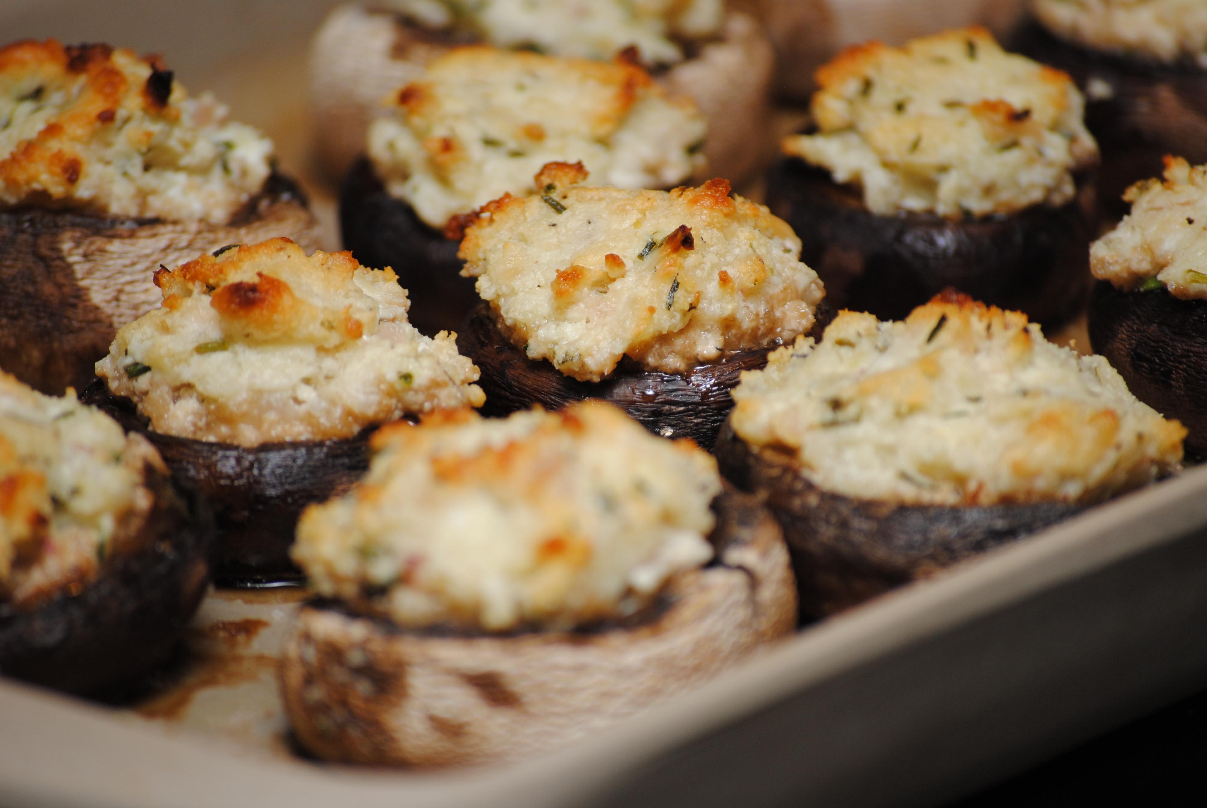 Cheese Stuffed Mushrooms  Goat Cheese and Herb Stuffed Mushrooms