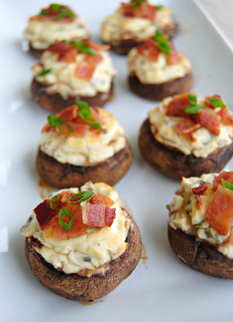 Cheese Stuffed Mushrooms  SteakNPotatoesKindaGurl Bacon and Spicy Cream Cheese