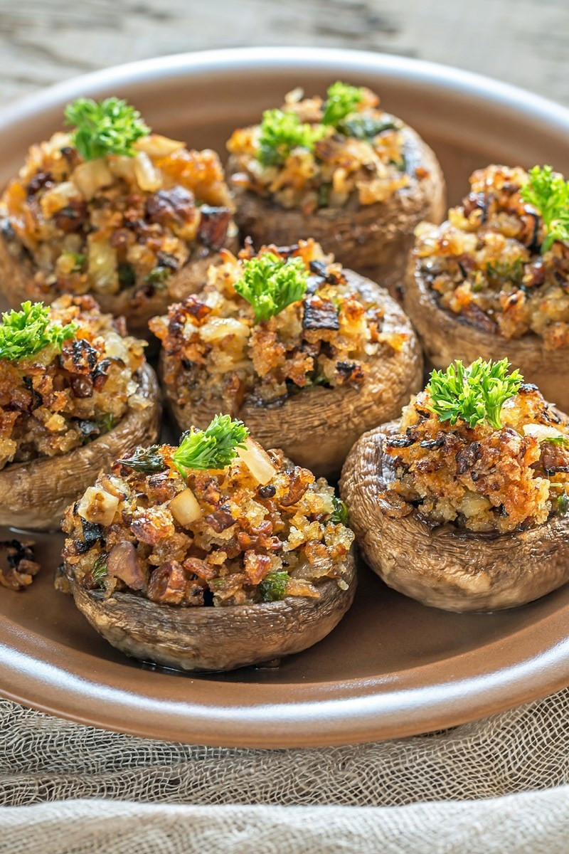 Cheese Stuffed Mushrooms  Bacon Caramelized ion & Blue Cheese Stuffed Mushrooms