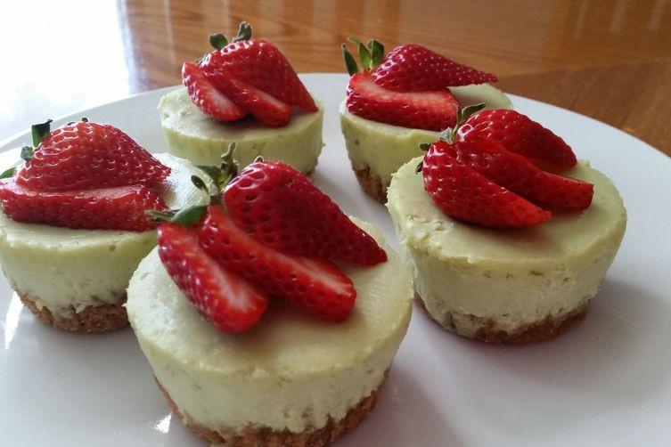 Cheesecake Cupcake Recipe  Avocado Lime Cheesecake Cupcakes Recipe on Food52
