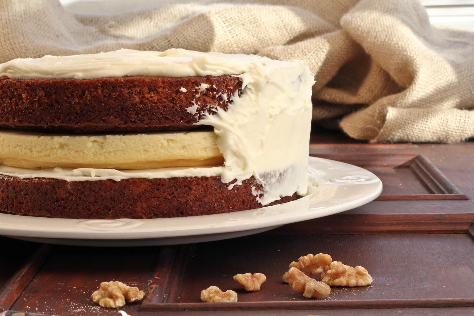 Cheesecake Filling Recipe  Cheesecake Filled Carrot Cake