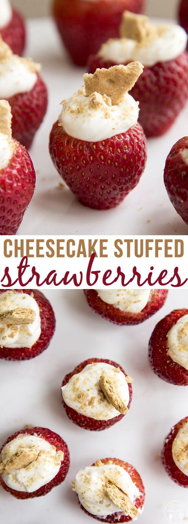 Cheesecake Filling Recipe  Cheesecake Stuffed Strawberries Recipe