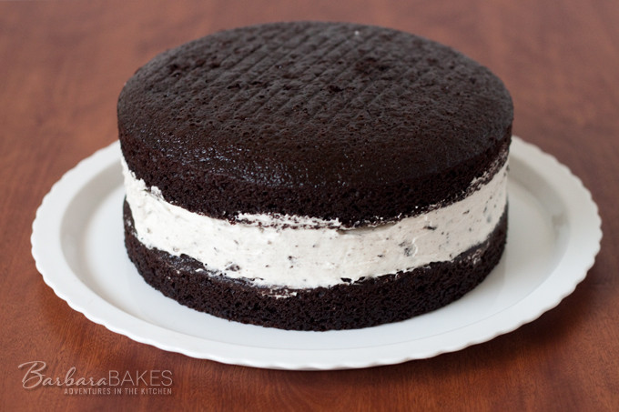 Cheesecake Filling Recipe  Chocolate Cake with an Oreo Cheesecake Filling from