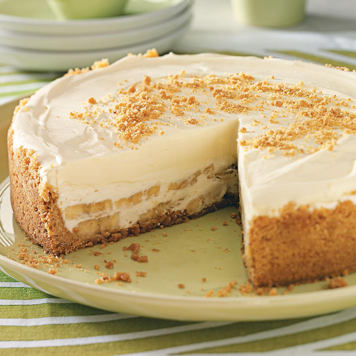 Cheesecake Recipe Easy  Banana Cream Cheesecake Recipe
