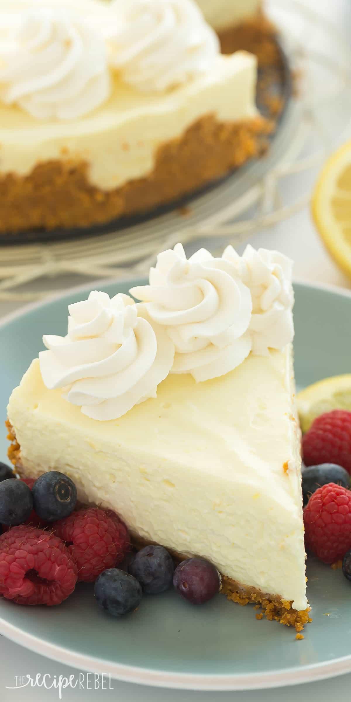 Cheesecake Recipe No Bake  Real Deal No Bake Lemon Cheesecake Recipe VIDEO