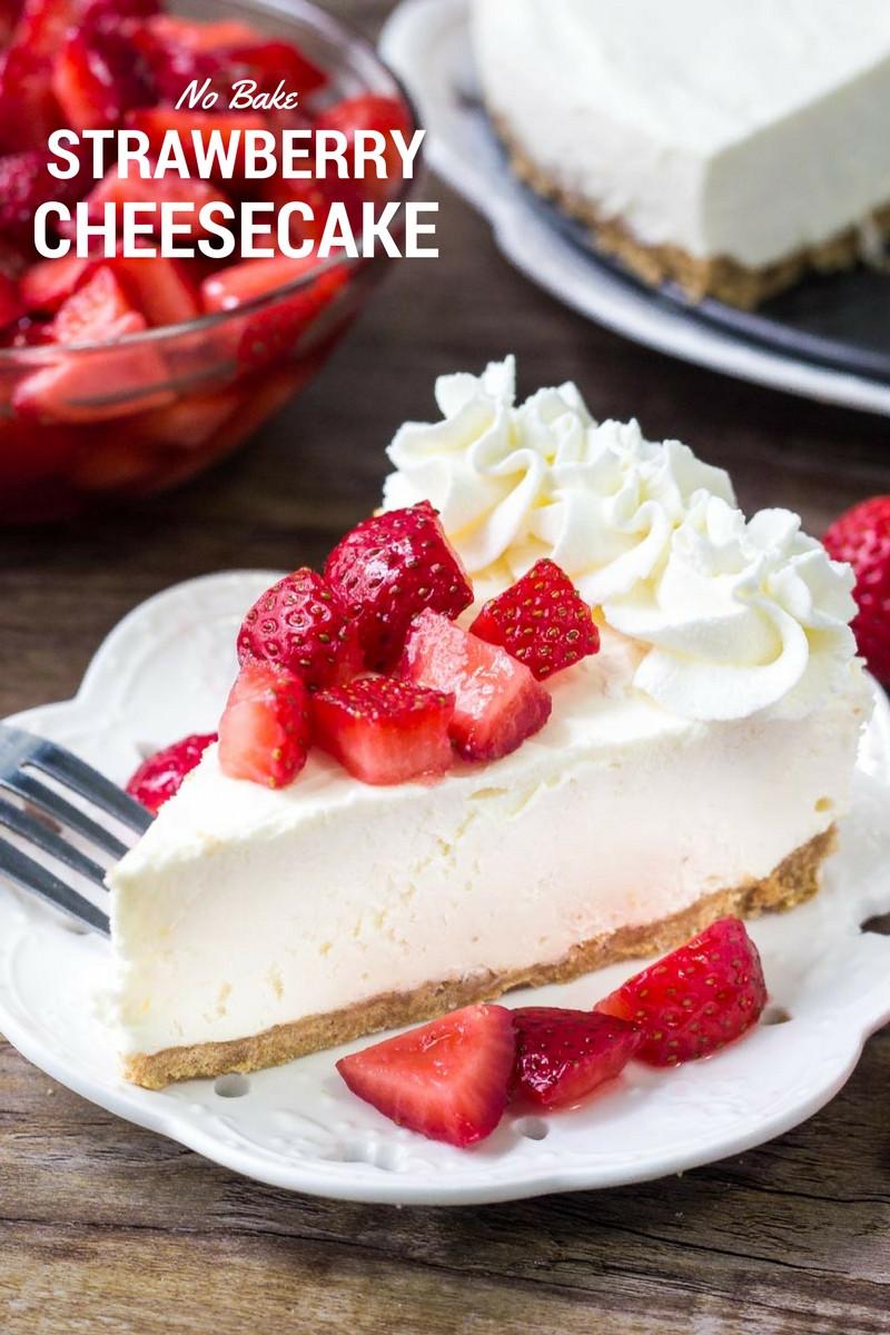 Cheesecake Recipe No Bake  BEST No Bake Cheesecake recipe