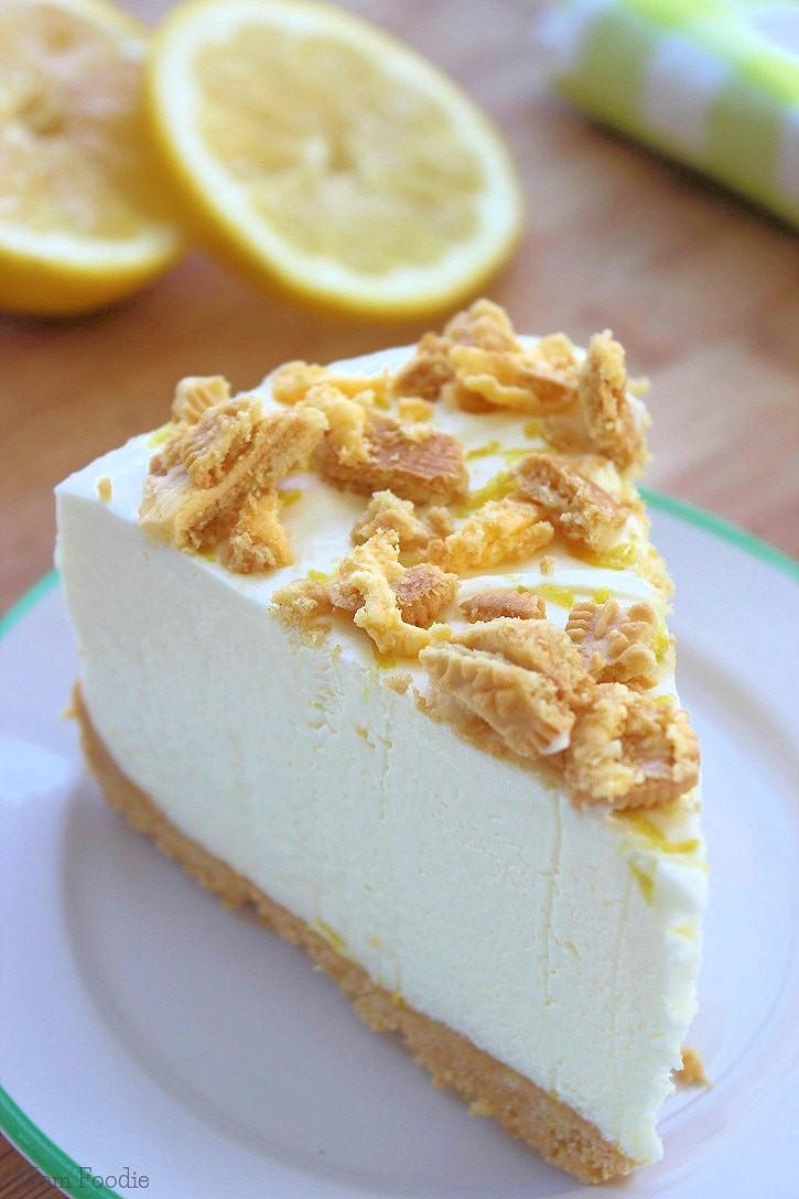 Cheesecake Recipe No Bake  Easy Triple Lemon Oreo Cheesecake No Bake Recipe Mom Foo