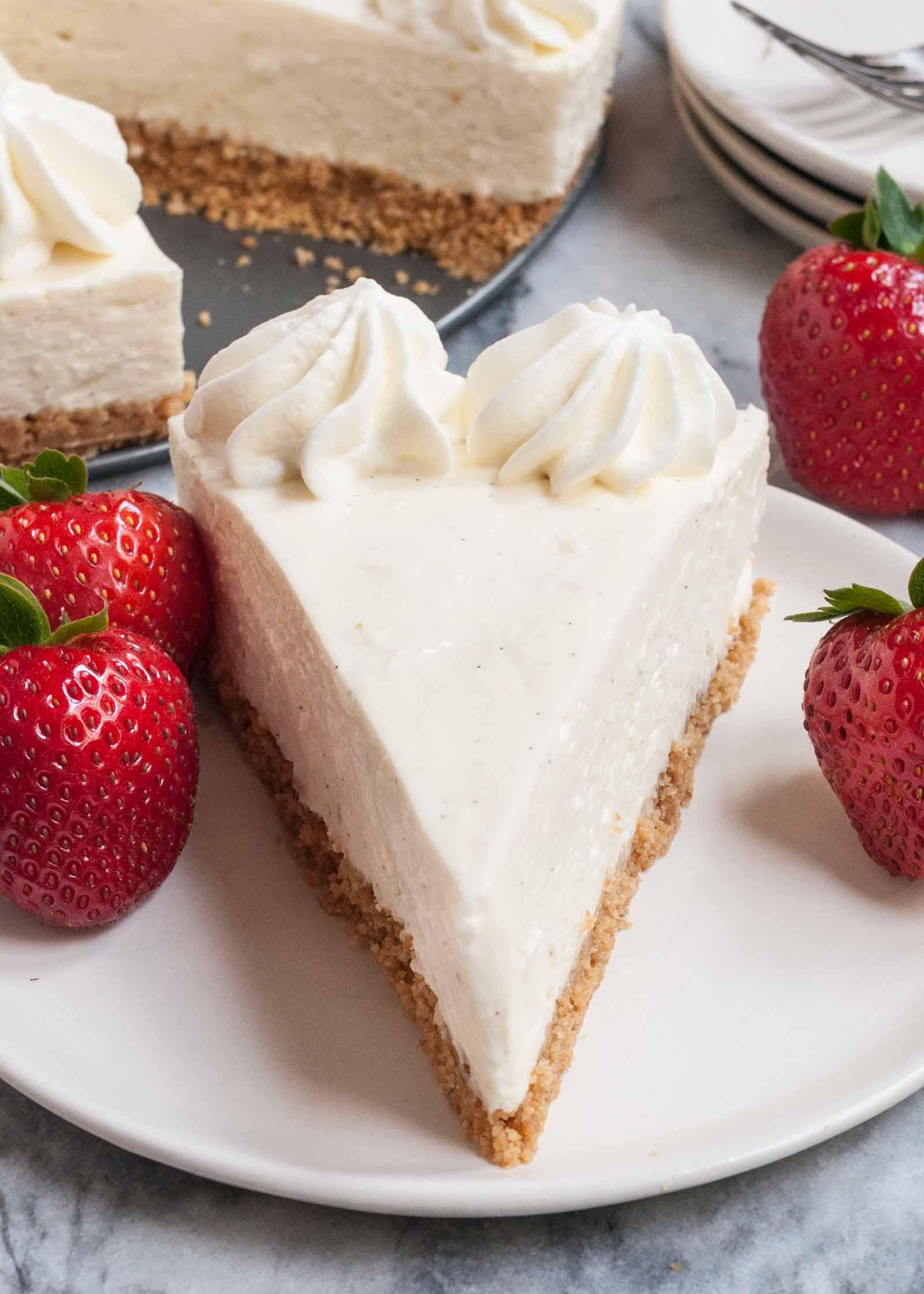 Cheesecake Recipe No Bake  No Bake Cheesecake So EASY