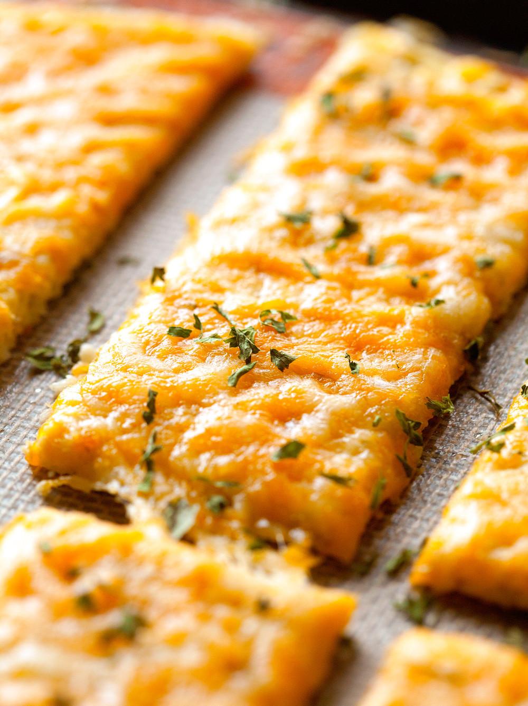 Cheesy Cauliflower Breadsticks  cauliflower breadsticks
