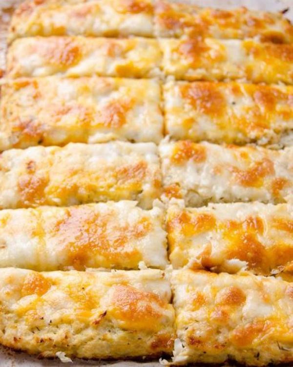 Cheesy Cauliflower Breadsticks  Amazing Cheesy Cauliflower Breadsticks Recipe