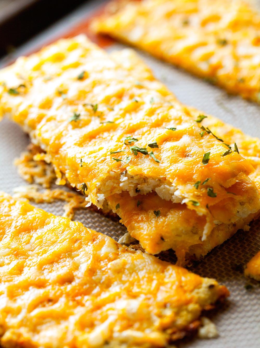 Cheesy Cauliflower Breadsticks  Cheesy Cauliflower Breadsticks