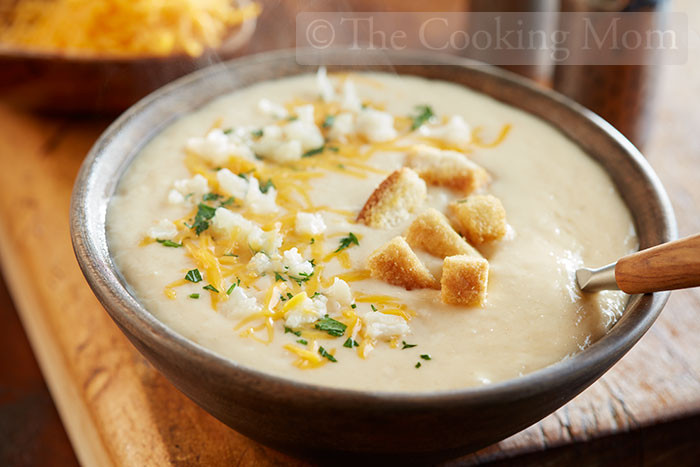 Cheesy Cauliflower Soup  Cheesy Cauliflower Soup The Cooking Mom