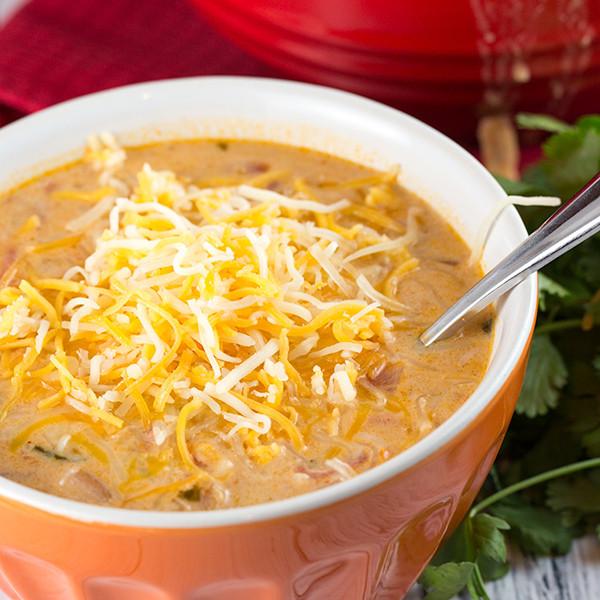 Cheesy Chicken Enchilada Soup  Cheesy Chicken Enchilada Soup Recipe