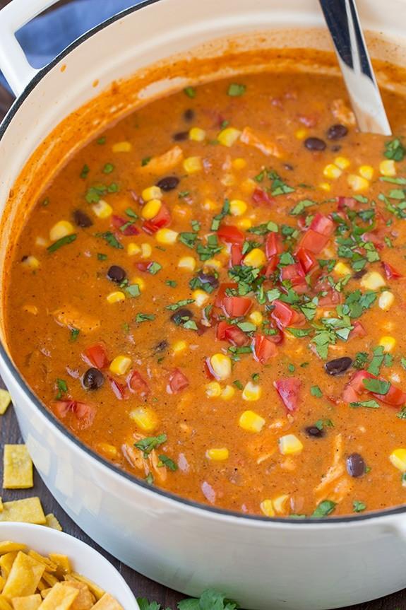 Cheesy Chicken Enchilada Soup  Cheesy Chicken Enchilada Soup Cooking Classy