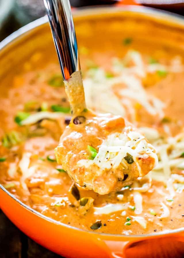 Cheesy Chicken Enchilada Soup  Cheesy Chicken Enchilada Soup Jo Cooks
