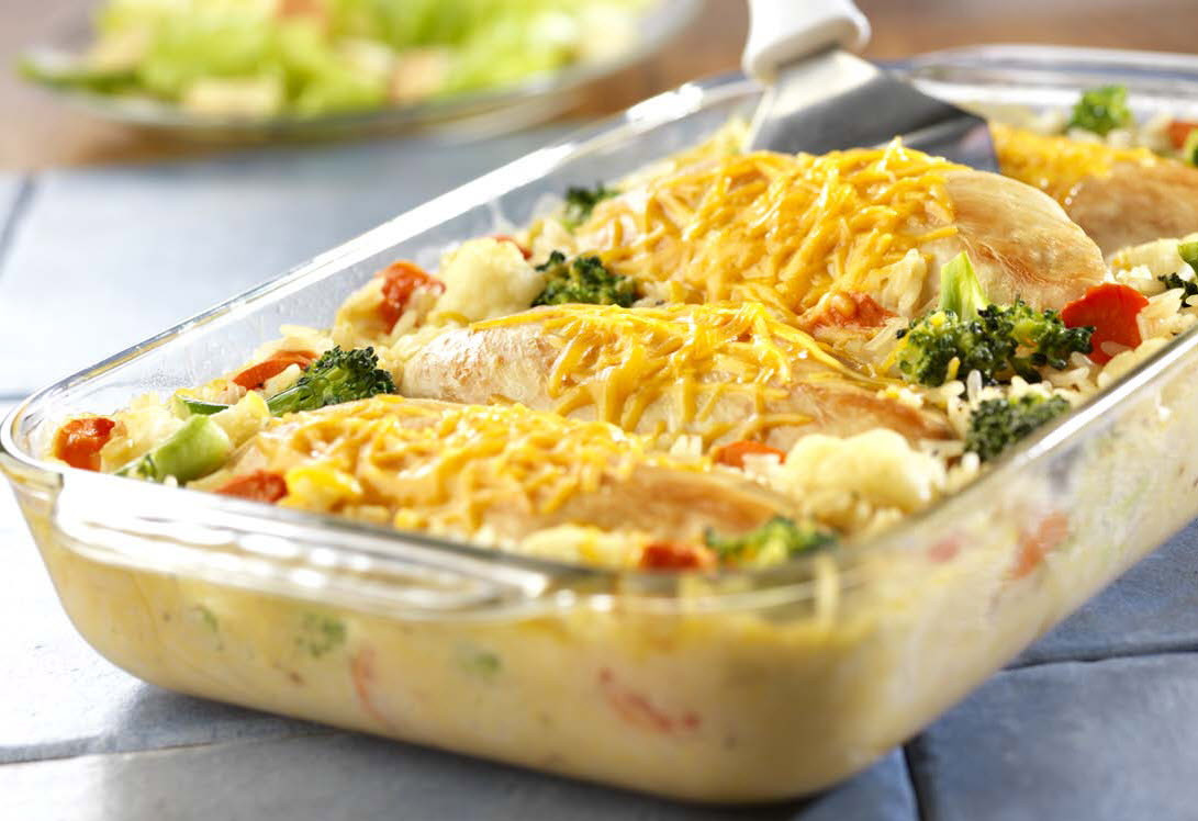 Cheesy Chicken Rice Casserole  Fine Indian Restaurants in London