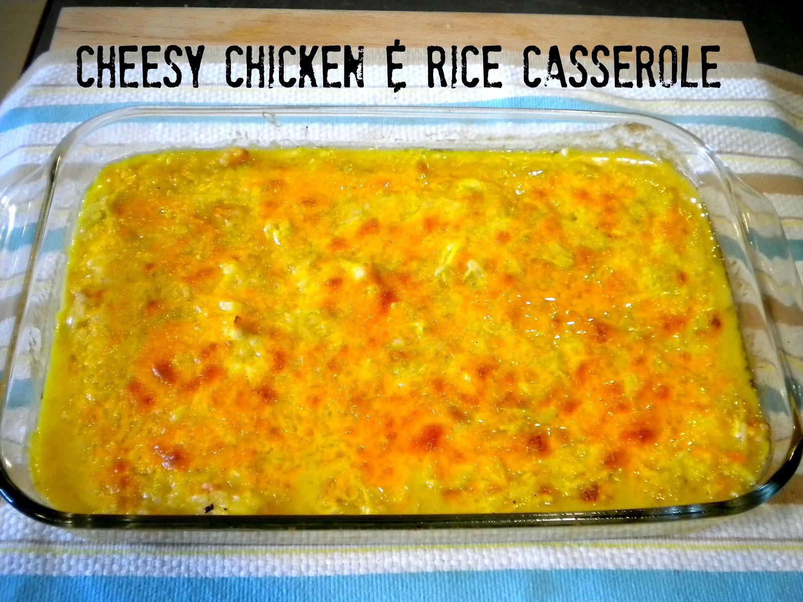 Cheesy Chicken Rice Casserole  Tobins Tastes Cheesy Chicken & Rice Casserole