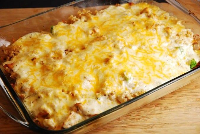 Cheesy Chicken Rice Casserole  Cheesy Chicken and Rice Casserole – 7 Points LaaLoosh