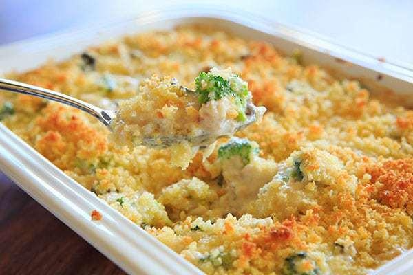 Cheesy Chicken Rice Casserole  Cheesy Chicken Broccoli & Rice Casserole From Scratch