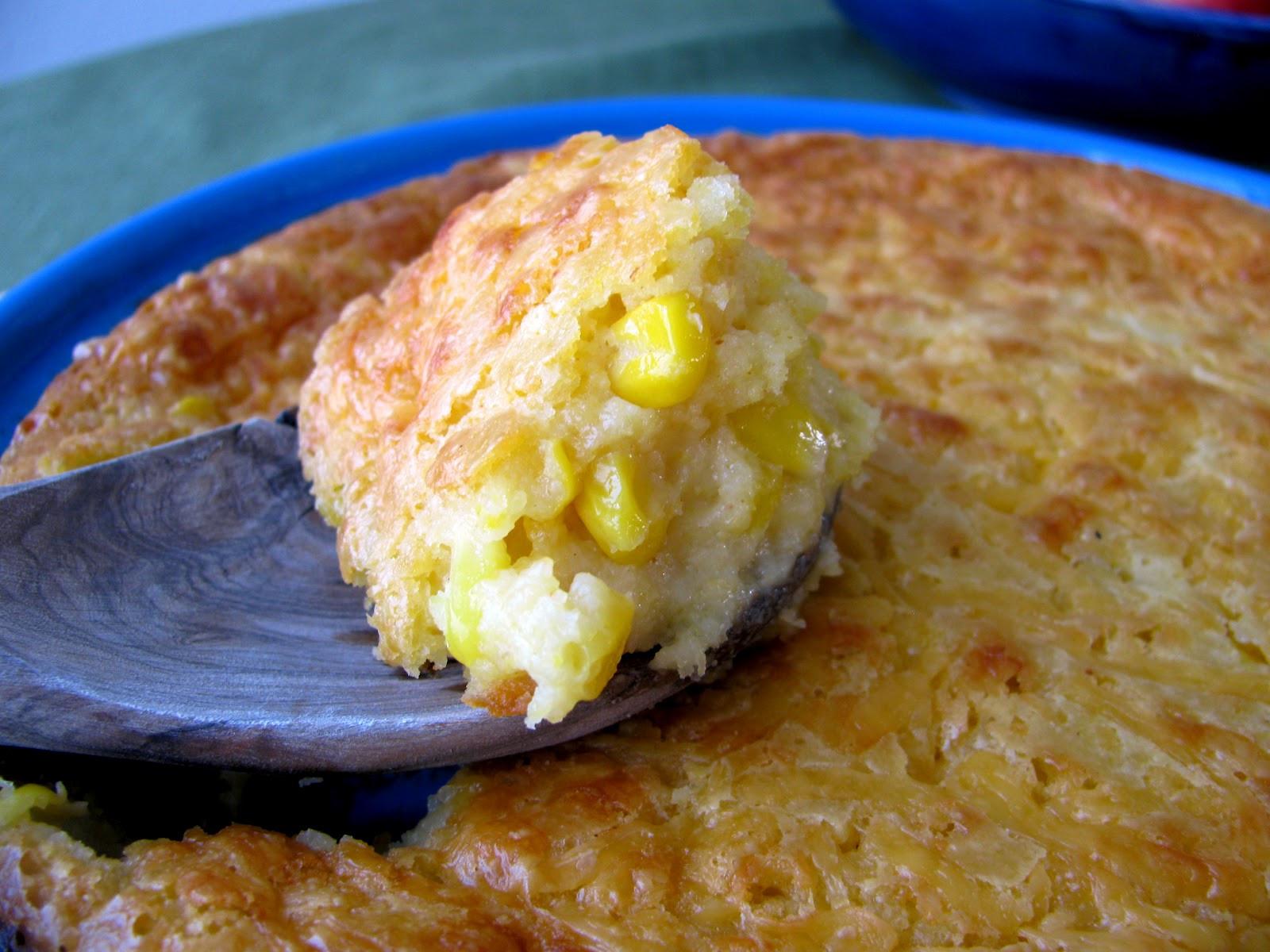 Cheesy Corn Casserole  Chena Girl Cooks Cheesy Corn Casserole