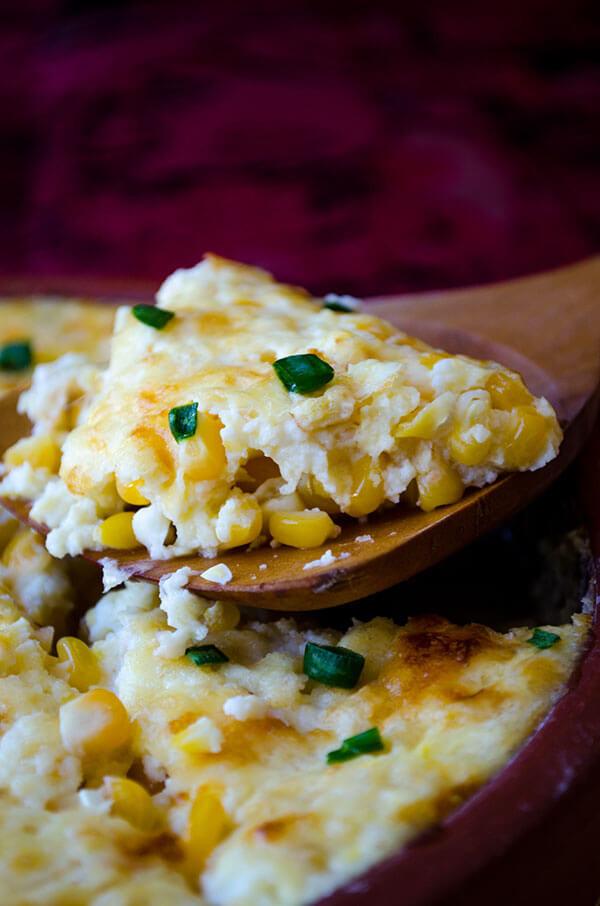 Cheesy Corn Casserole  Creamy Cheesy Corn Casserole