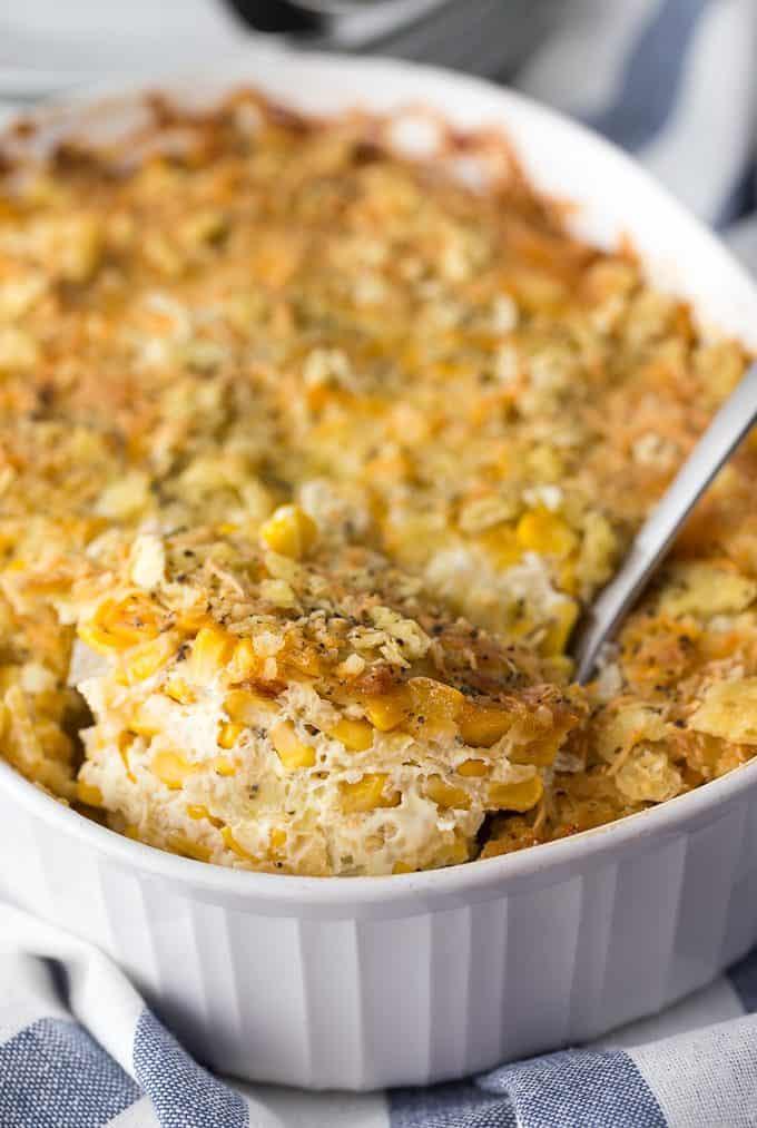 Cheesy Corn Casserole  Cheesy Corn Casserole Simply Stacie