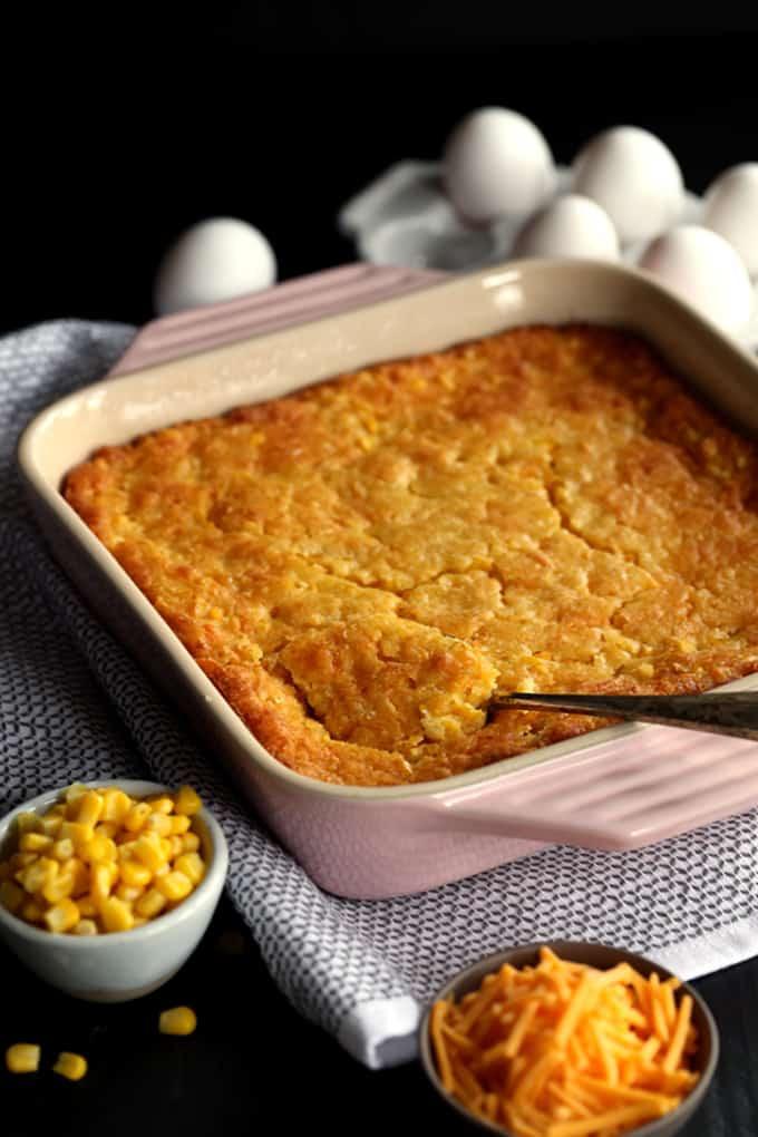 Cheesy Corn Casserole  Cheesy Corn Casserole Melanie Makes