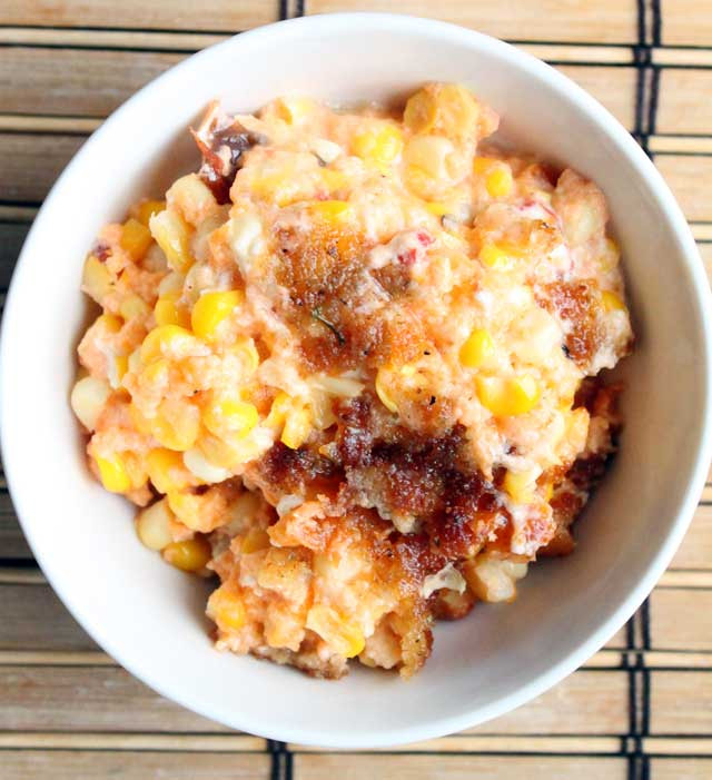 Cheesy Corn Casserole  Cheesy Corn Casserole – Simple fort Food – Recipes that