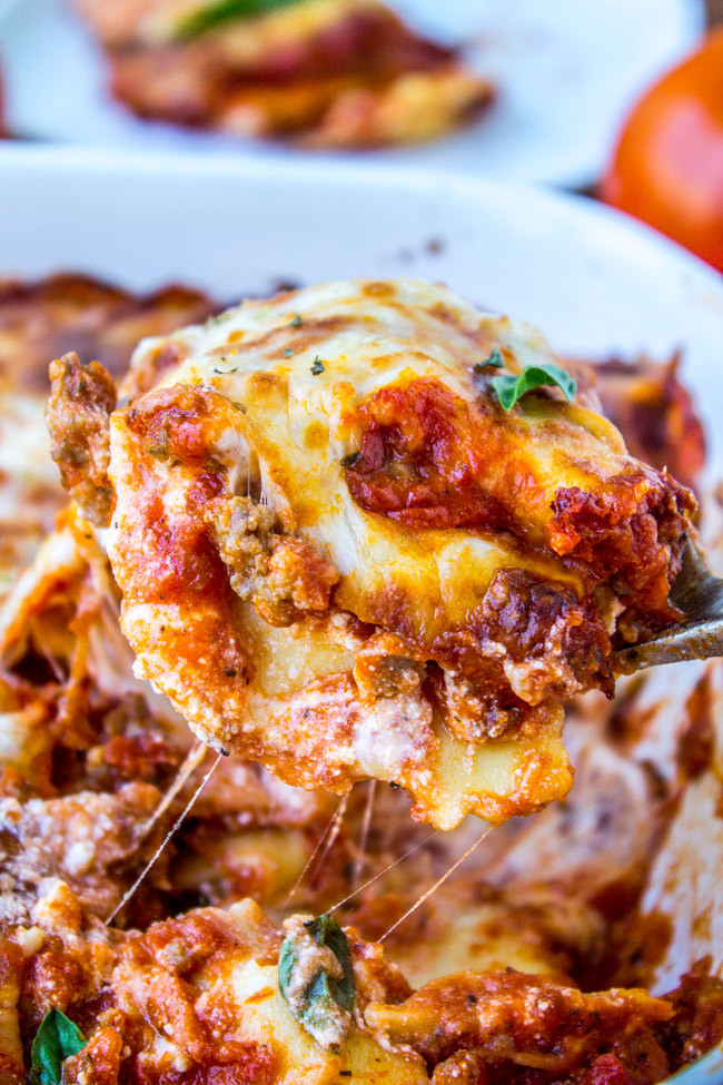 Cheesy Dinner Ideas  Easy Cheesy Ravioli Lasagna The Food Charlatan