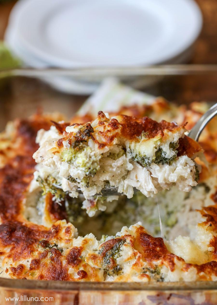 Cheesy Dinner Ideas  Cheesy Chicken Rice Bake Lil Luna