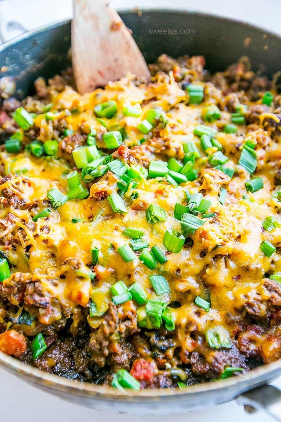 Cheesy Dinner Ideas  e Pot Cheesy Taco Skillet