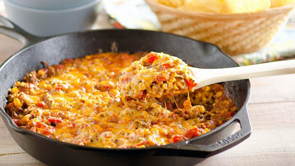 Cheesy Dinner Ideas  10 Skillet Dinners You Can Make in No Time Pillsbury
