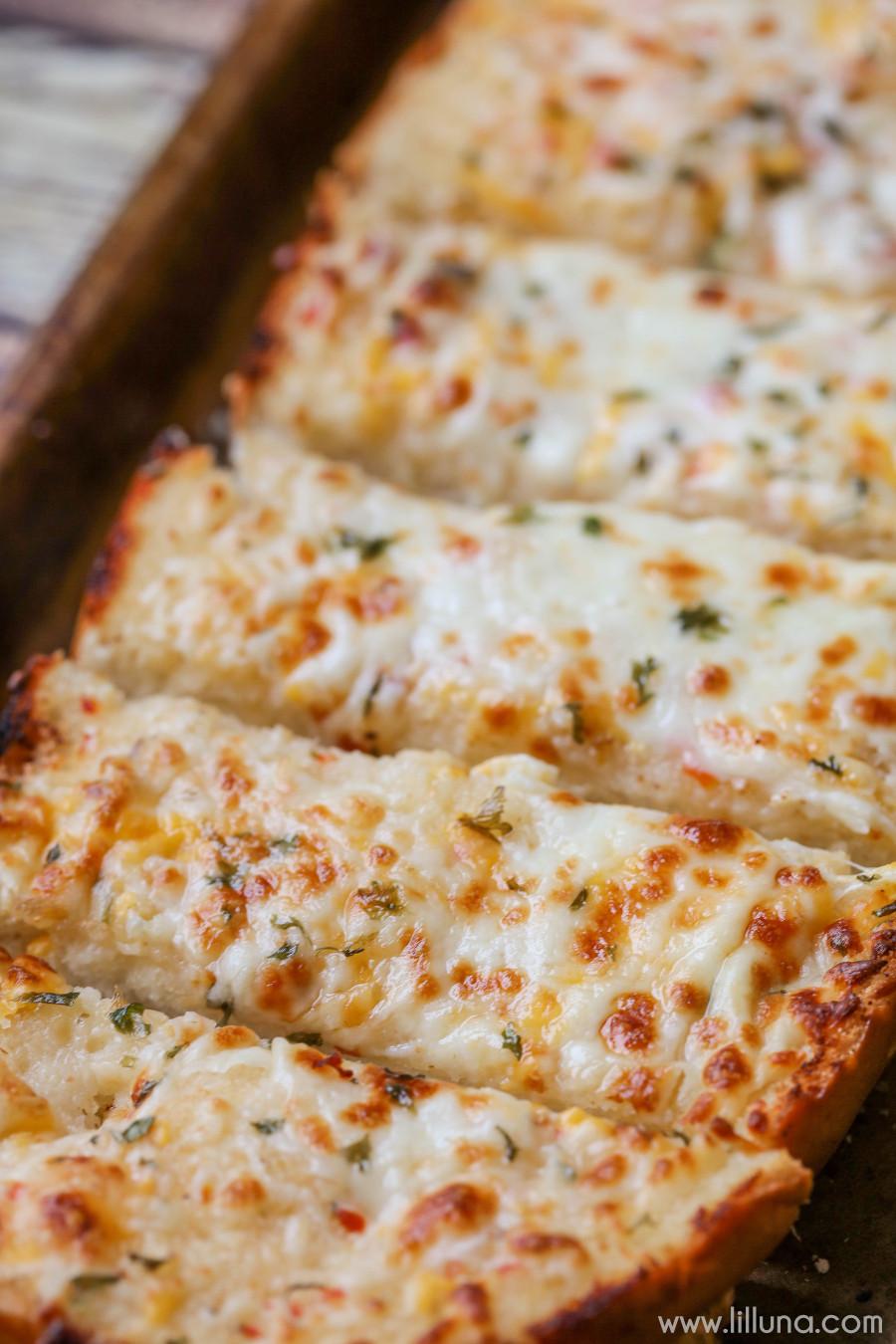 Cheesy Garlic Bread  Favorite Cheesy Garlic Bread Recipe