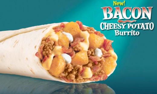 Cheesy Potato Burrito  Taco Bell Restaurant Copycat Recipes Taco Bell Bacon
