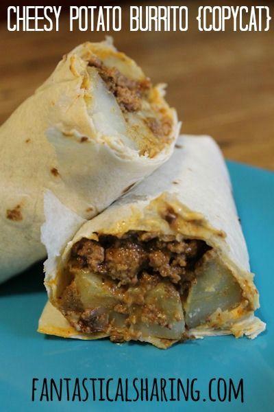Cheesy Potato Burrito  taco bell cheesy potato burrito