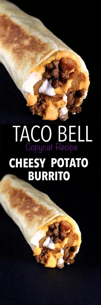 Cheesy Potato Burrito  Taco Bell Cheesy Potato Burrito Copycat Recipe