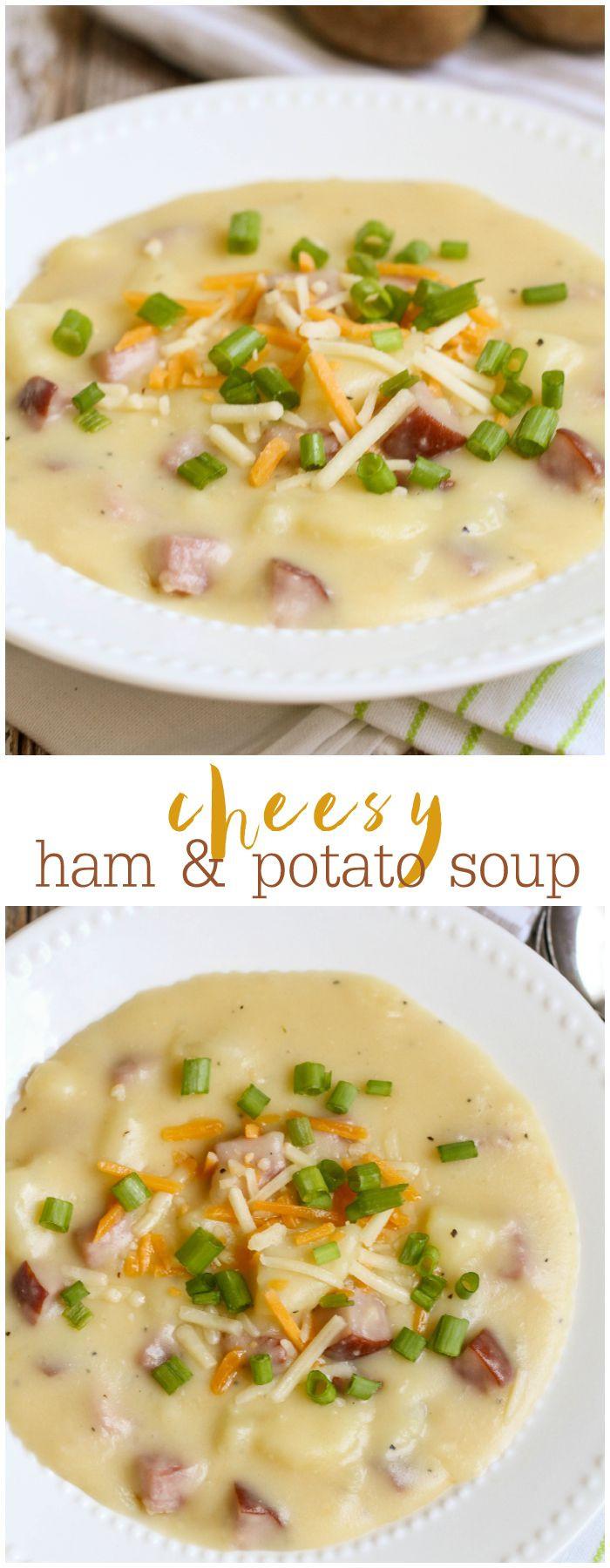 Cheesy Potato Soup  Cheesy Ham and Potato Soup Recipe